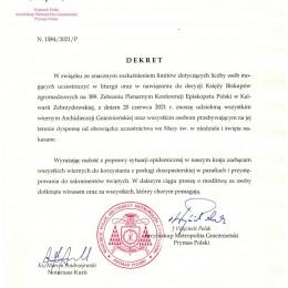 Parafia Kościoła Rzymsko Katolickiego pw. śś. Piotra i Pawła w Kruszwicy - Koniec dyspensy